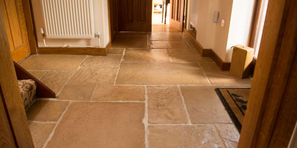 Flagstones installation in Worcestershire