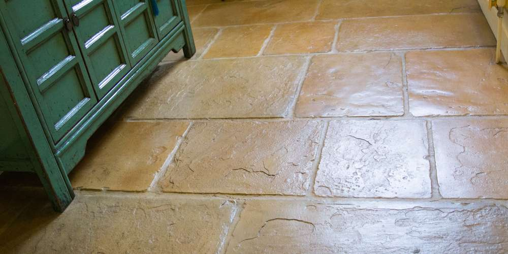 Flagstones installation in Bedfordshire
