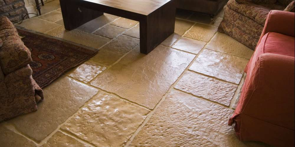 Flagstones installation in Somerset
