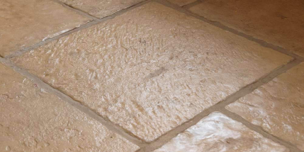 Flagstones installation in Pembrokeshire