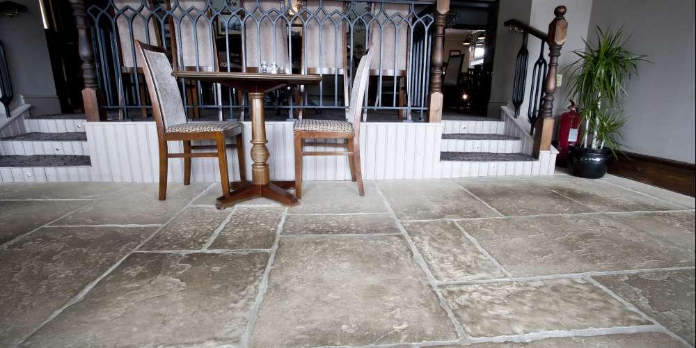 Flagstones installation in Yorkshire