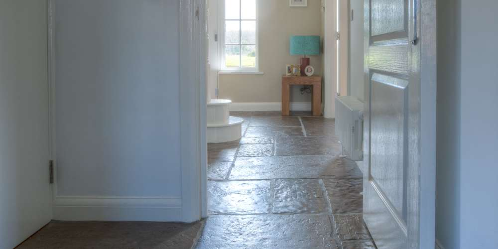Flagstones installation in Kent