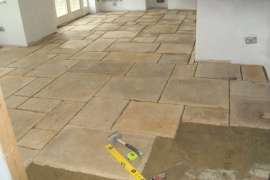Flagstones laid in random lay out
