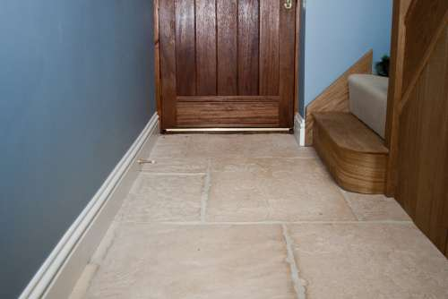 Old Mill Limestone finished with Satin Sealant