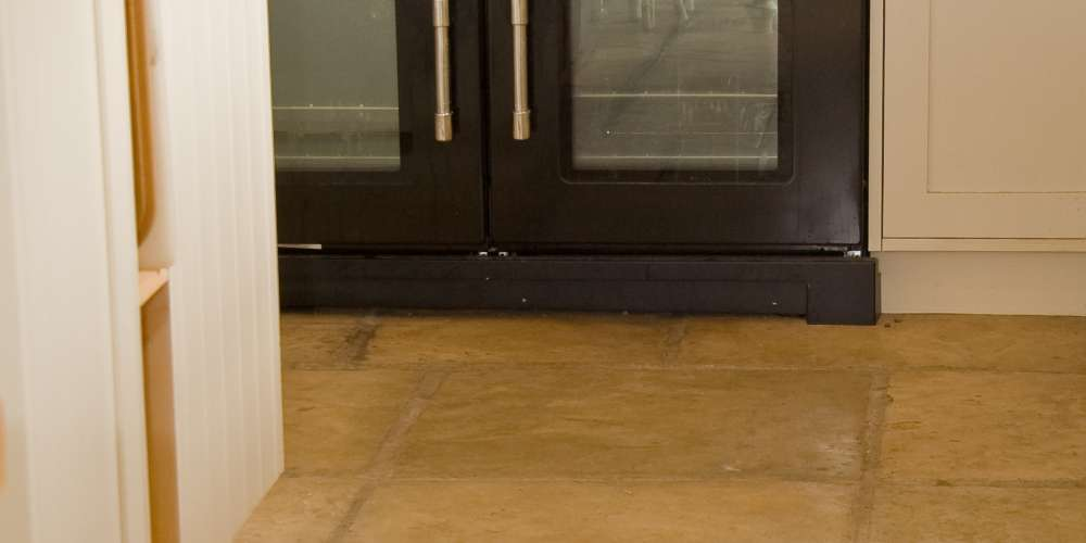 French Limestone Honey Gold finished with Satin Sealant