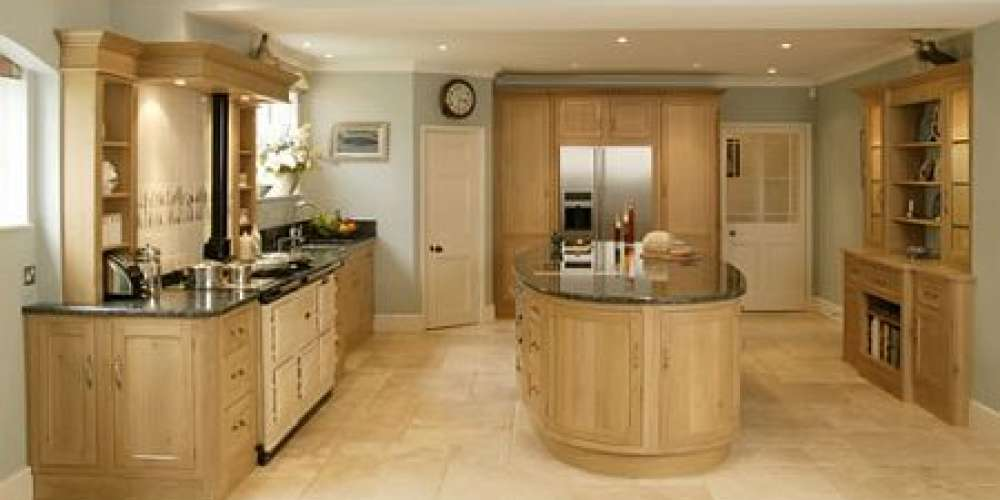 Kitchen flagstone flooring made from French Limestone