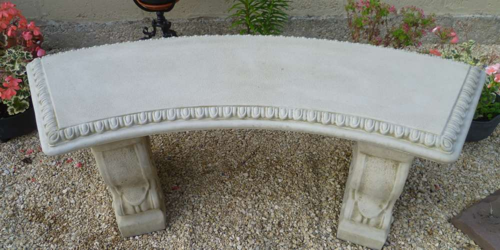 Curved Scalloped Bench   £65.00