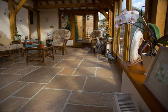 Classic barn conversion flooring