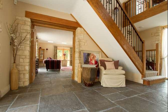 Hallway flagstones