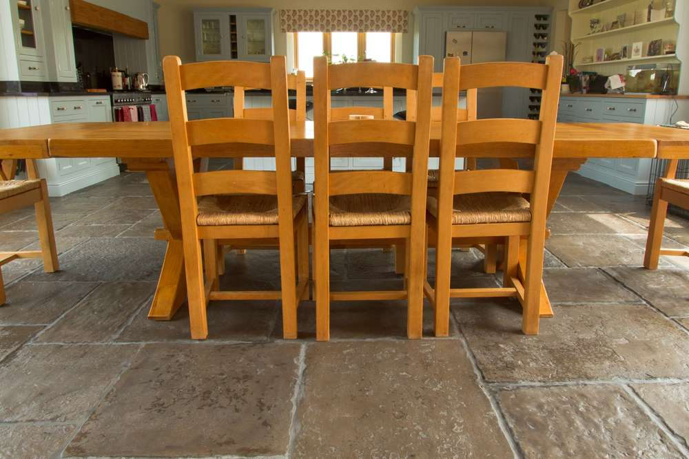 ... Dining Room Flagstone Floor ...