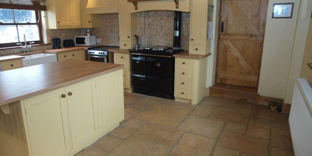 Rustic kitchen flooring