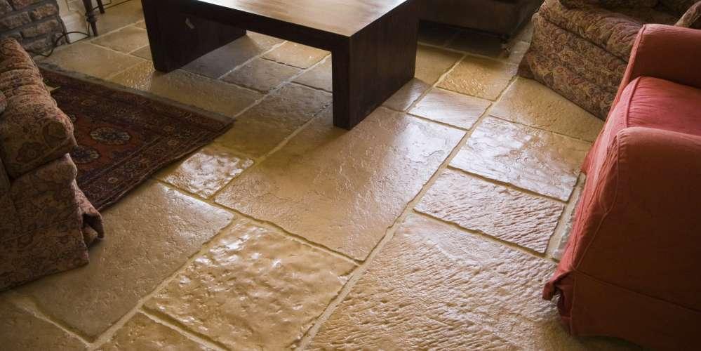 Lounge flagstone floor